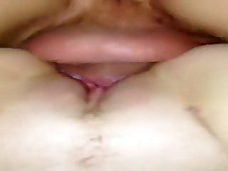 My tight pussy fucked doggystyle with creampie