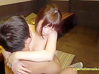 Jav Teen Idol Haruka Okajima Fucks Old Businessmen On The Floor And Food Table Cute Cheeky Teen Loves Fucking